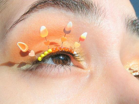 Candy Corn Eyelash Jewelry - Halloween false eyelashes