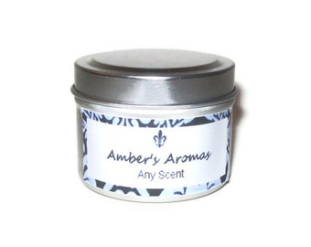 Scented Candle in Travel Tin You Choose Scent 2 oz You Choose from over 100 Scents Sample Size