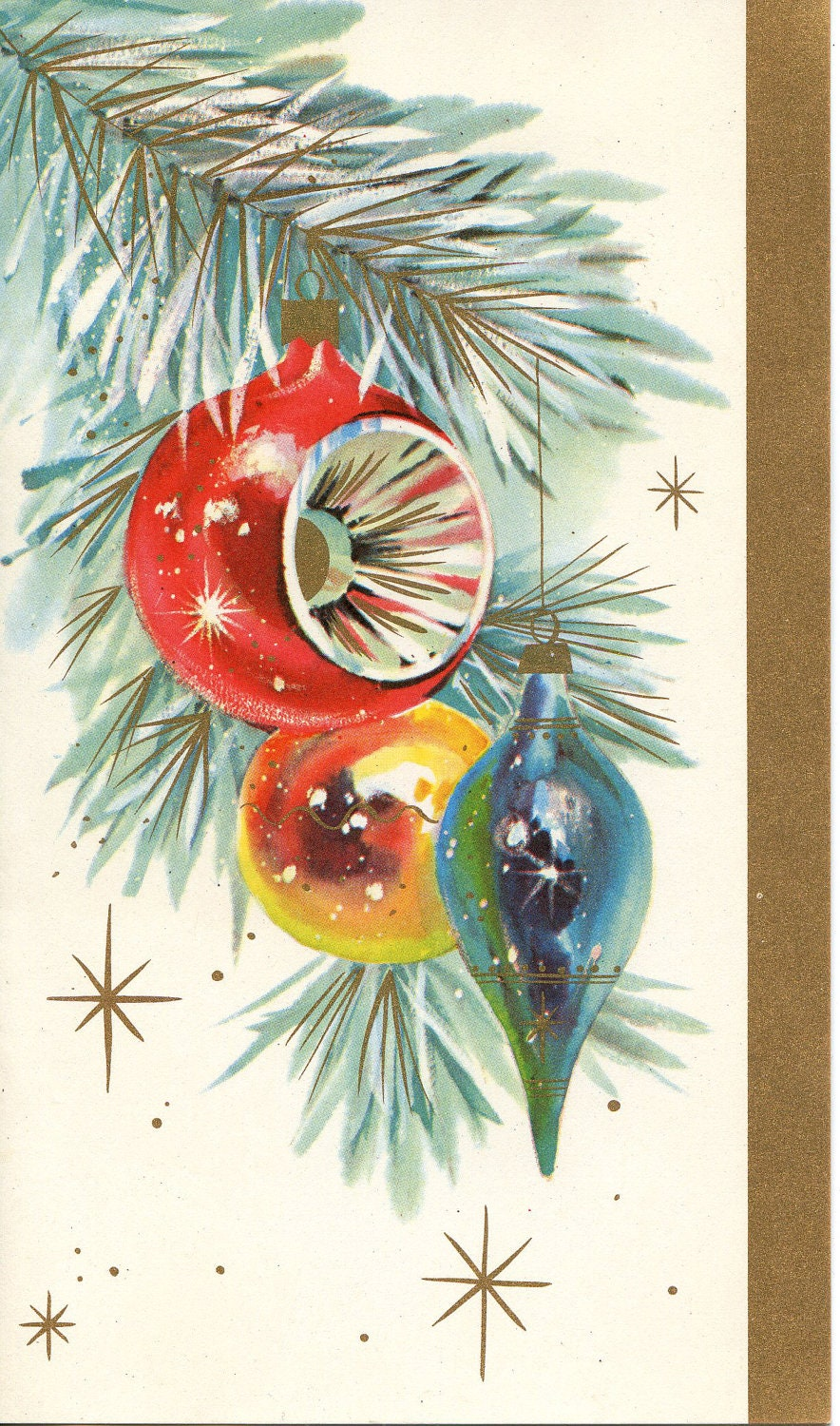 Vintage Christmas Card Ornament Tree