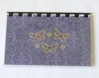 "Handmade ""Butterfly's"" Blank Recipe book"
