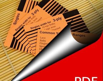 Print your  Yarnometer Yarn control card - WPI sizing tool