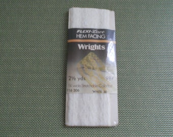 Vintage Flexi-Lace Hem Facing by Wrights - White