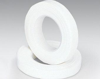 """Floral Corsage Stem Wrap White - 1/2""""w 90'  2 pk"""