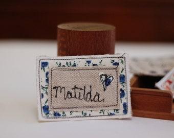 Handmade Personalised Name Badge