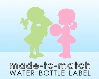Made-to-Match Water Bottle Label . Digital File - to coordinate with SSC Card Design