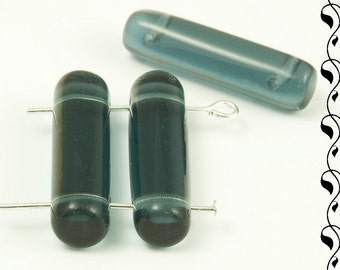 Tubes with 2 Holes 25x7 mm Grey 4 pcs.