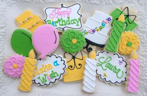 Happy Birthday Celebration Sugar Cookies Collection
