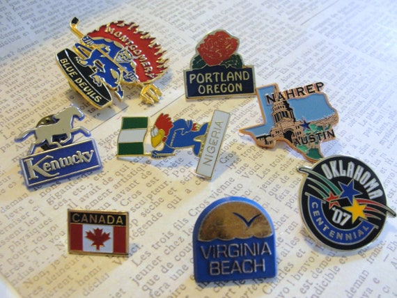 misc state and country pins