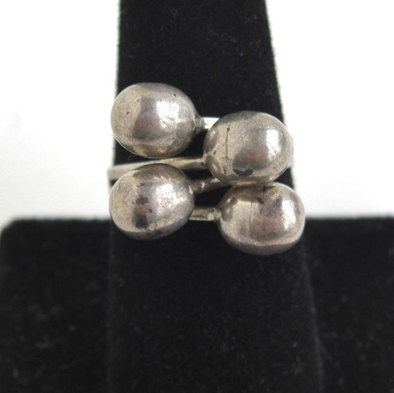 Vintage TAXCO Sterling Silver Bypass Ring - Wonderful Adjustable Shape