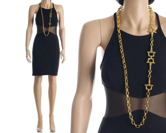 Vintage 90s Bandage Dress - Black Body Con Mesh Cut Out Sheer Dress - S / M