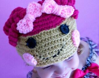 Custom made crochet lalaloopsy hat