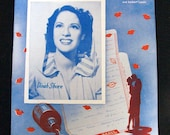 Dinah Shore, WWII Sheet Music, Cant You Read Between the Lines, V-Mail, 1945,  Red White Blue -- 0822
