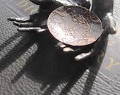 textured copper disc