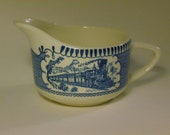 Currier and Ives Locomotive Creamer