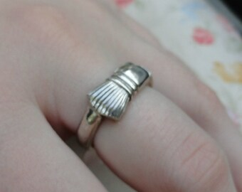 Sterling Silver Paint Brush Ring