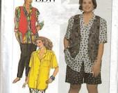 vintage 90's SIMPLICITY 9673 misses BBW Pants Shorts Shirt  Vest sz 26W-32W  Bust 48-54  Uncut