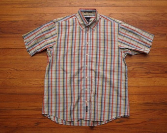 mens vintage short sleeve oxford shirt