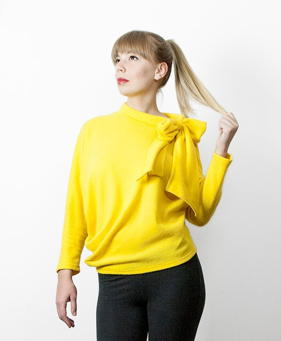 SAMPLE SALE - Wool-jersey Pussy Bow Sweater