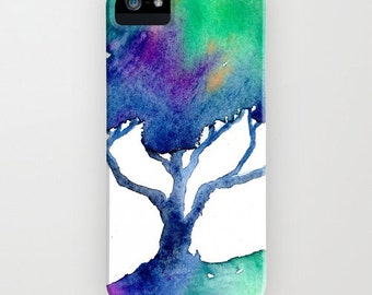 Watercolor Phone Case - Oak Tree Cell Phone Cover - Designer iPhone Samsung Case