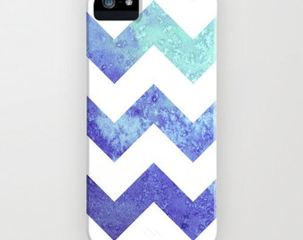 Geometric iPhone 7 Case - Chevron Watercolor Painting - Abstract Art - Designer iPhone 6S or Samsung S6 Case