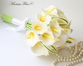 """Bridal Bouquet With  Cala Lillies (7.5"""")"""