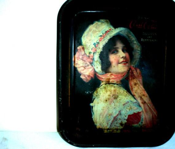 Antique Original Coca Cola Tin Tray
