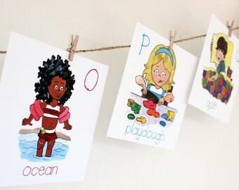 Alphabet cards for nursery or kid's room
