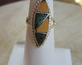 Vintage Taxco Inlaid Ring