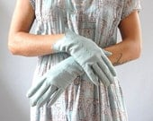 Leather Gloves  / Robins Egg Gloves / French