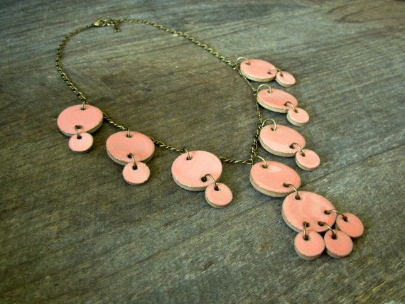 SALE: Deluxe Statement Necklace- Peach Pink