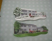 Custom House Paintings or Ornaments, all occasion  4-5 inches. An Endearing Gift