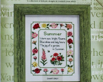 Summer - Cross Stitch Chart - Heritage Stichcraft - Susan Ryder from Say it in Stitches