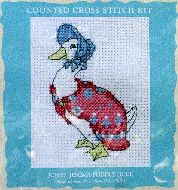 Free Knitting Pattern Jemima Puddle Duck : Beatrix Potter Jemima Puddle Duck Cross Stitch Kit