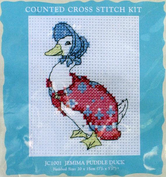 Jemima Puddle Duck Knitting Pattern : Beatrix Potter Jemima Puddle Duck Cross Stitch Kit