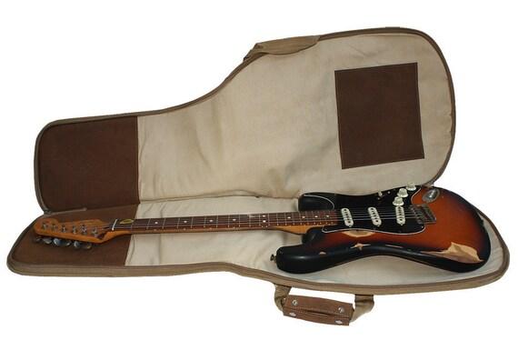 leather guitar case gig bag backpack distressed buckskin. Black Bedroom Furniture Sets. Home Design Ideas