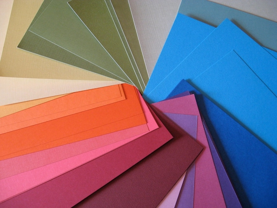 Scrapbook Craft Paper Rainbow of Colors 12 x 12 inch paper 30 sheets
