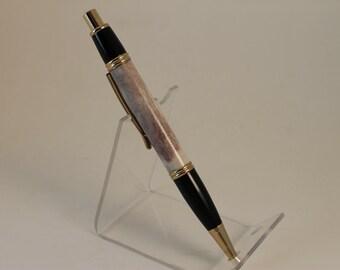 Deer Antler Gatsby Click Pen Gold