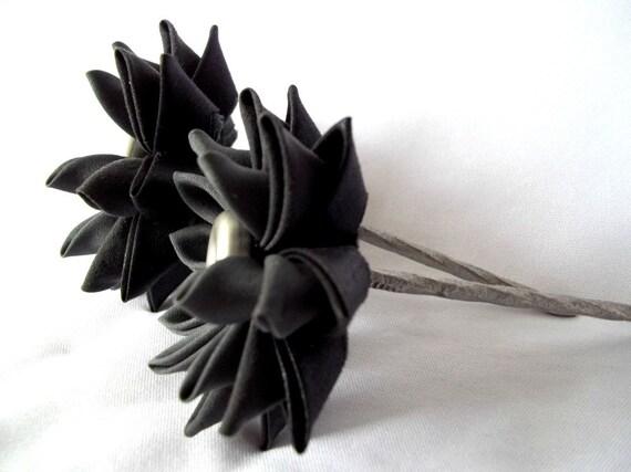 Black Lotus Hair Sticks