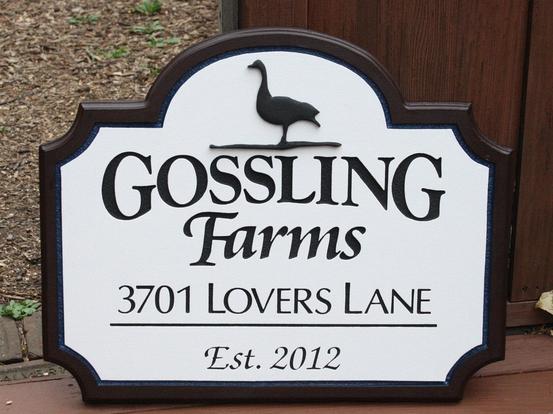 Custom farm sign address sign home decor housewares outdoor - Custom signs for home decor concept ...