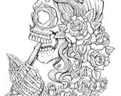 Suicide Sin - Lineart Print