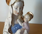 Beautiful Virgin Mary Figurine with Christ Child