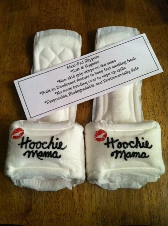 Hoochie Mama Maxi Pad Slippers By Kraftsbydonna On Etsy
