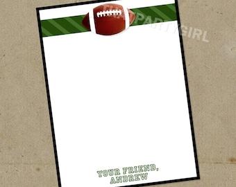 DIY Football Birthday Party Thank You Notes - Digital U Print