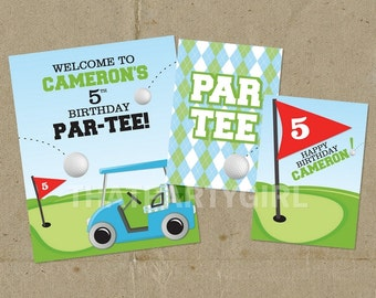 DIY Golf PAR-TEE Birthday Party Sign Door Sign Digital U Print