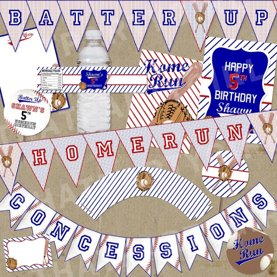 mini baseball party package decorations favors diy