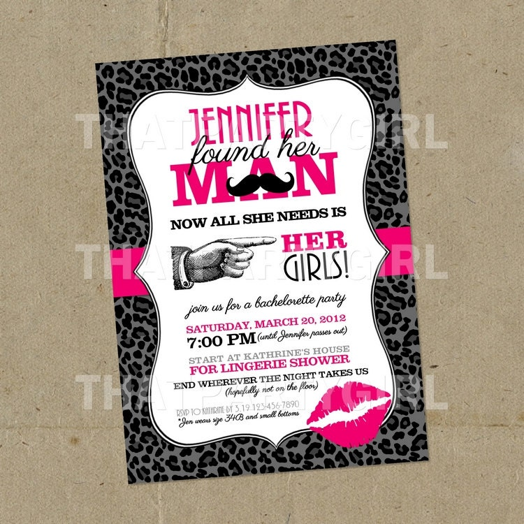 Bachelor Invites with good invitation ideas