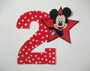 DIY No-Sew - Mickey Mouse Applique and Number - Iron On