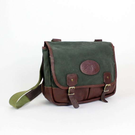 Orvis Company canvas & leather cross body messenger