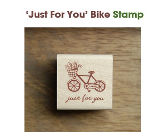 Bike Rubber Stamp - Just For You  -