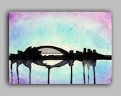 "Sydney Skyline Watercolour Print 8"" x 11.5"" (A4) - Paint the Moment"